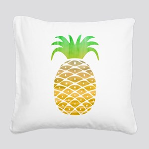 Colorful Pineapple Square Canvas Pillow