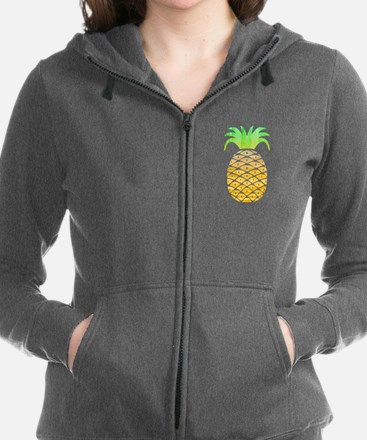 Colorful Pineapple Women's Zip Hoodie