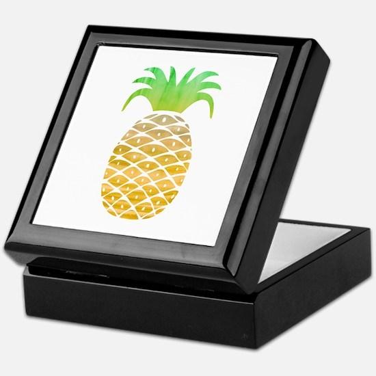 Colorful Pineapple Keepsake Box