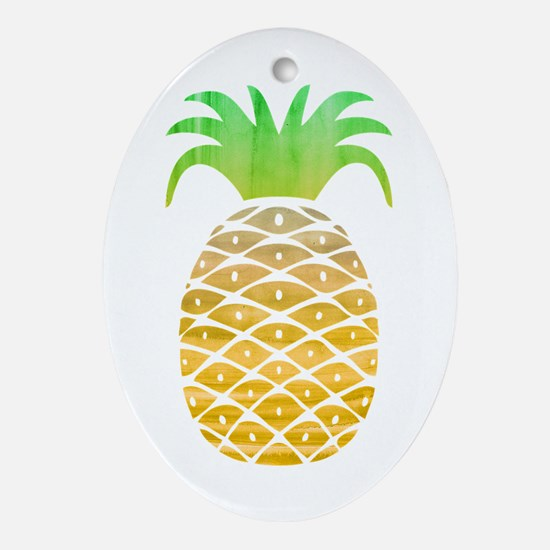 Colorful Pineapple Oval Ornament