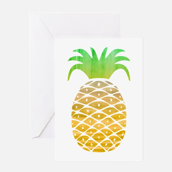 Colorful Pineapple Greeting Cards