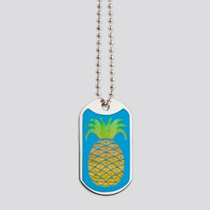 Colorful Pineapple Dog Tags