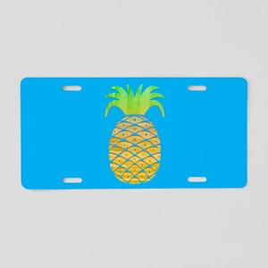 Colorful Pineapple Aluminum License Plate