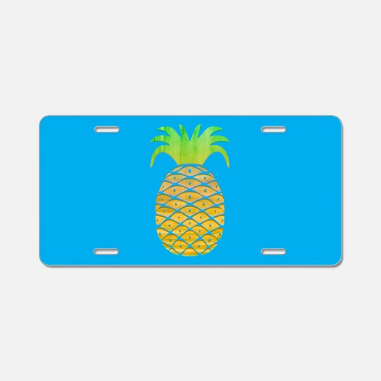 Colorful Pineapple Aluminum License Plate