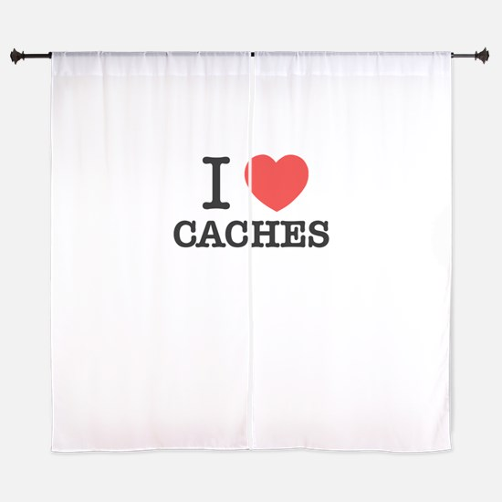 I Love CACHES Curtains