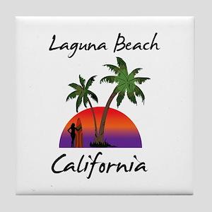 Laguna Beach California Tile Coaster