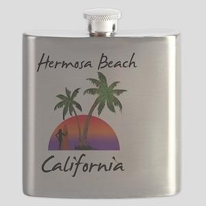 Hermosa Beach California Flask