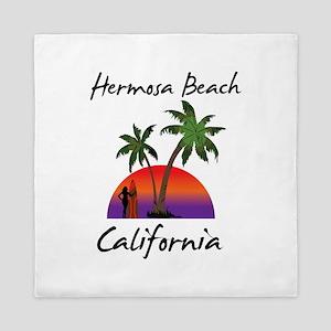 Hermosa Beach California Queen Duvet