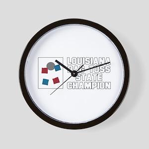 Louisiana Bag Toss State Cham Wall Clock