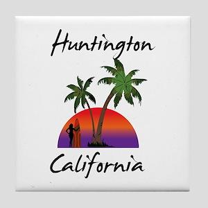 Huntington California Tile Coaster