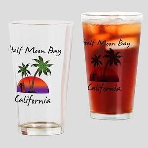 Half Moon Bay California Drinking Glass