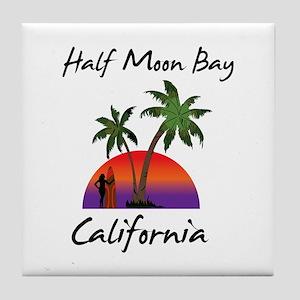 Half Moon Bay California Tile Coaster