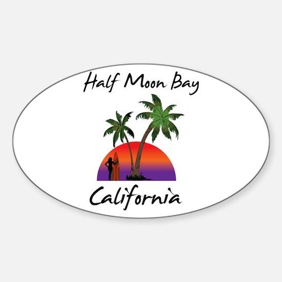 Half Moon Bay California Decal