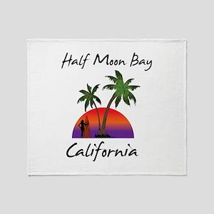 Half Moon Bay California Throw Blanket