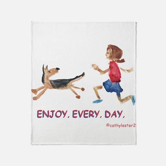 enjoy. every. day. 2 Throw Blanket