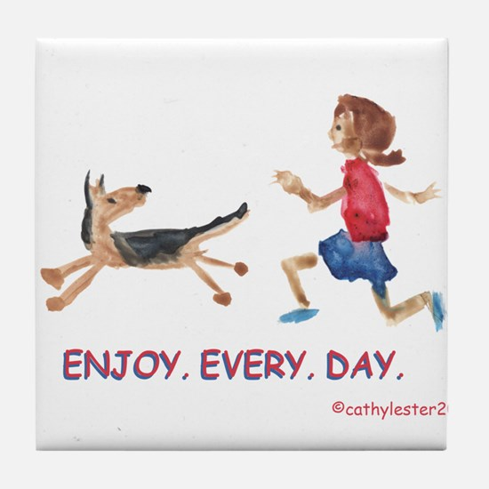 enjoy. every. day. 2 Tile Coaster