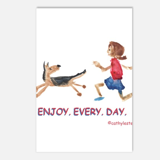 enjoy. every. day. 2 Postcards (Package of 8)