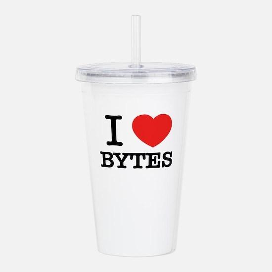 I Love BYTES Acrylic Double-wall Tumbler