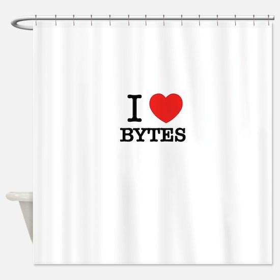I Love BYTES Shower Curtain