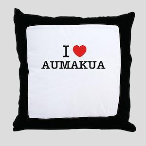 I Love AUMAKUA Throw Pillow
