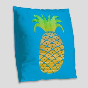 Colorful Pineapple Burlap Throw Pillow