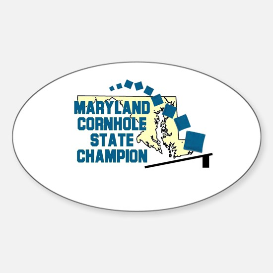 Maryland Cornhole State Champ Oval Decal