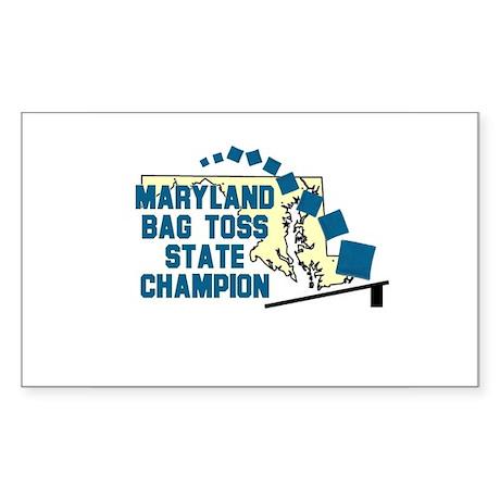 Maryland Bag Toss State Champ Sticker (Rectangular