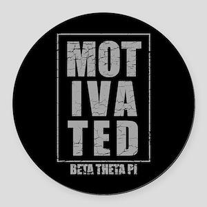 Beta Theta Pi Motivated Round Car Magnet