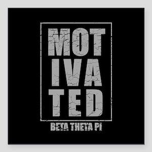 "Beta Theta Pi Motivated Square Car Magnet 3"" x 3"""