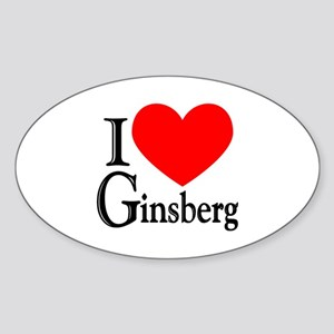 Ginsberg Oval Sticker