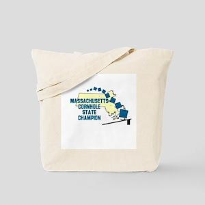 Massachusetts Cornhole State Tote Bag