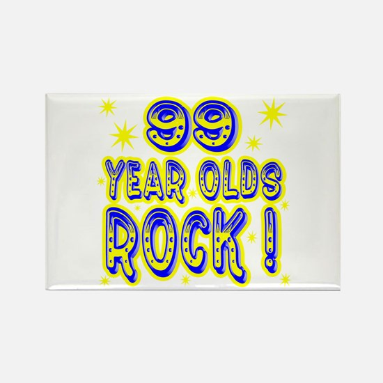 99 Year Olds Rock ! Rectangle Magnet