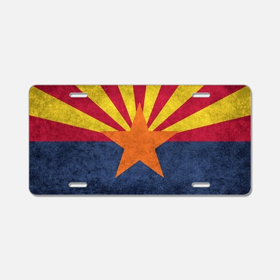 Arizona state flag - vintag Aluminum License Plate