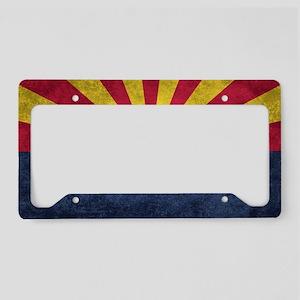 Arizona state flag - vintage License Plate Holder