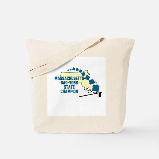 Massachusetts Bag Toss State Tote Bag