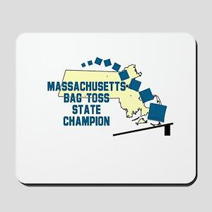 Massachusetts Bag Toss State Mousepad