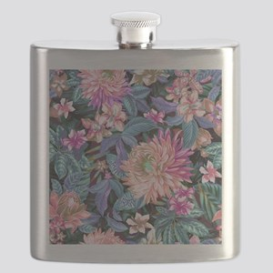 Exotic Floral Flask