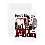 1-800-GET-A-DOG Greeting Card