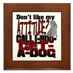 1-800-GET-A-DOG Framed Tile