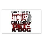 1-800-GET-A-DOG Rectangle Sticker