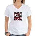 1-800-GET-A-DOG Women's V-Neck T-Shirt