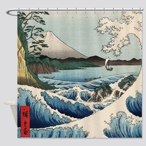 Sea of Satta Hiroshige Shower Curtain