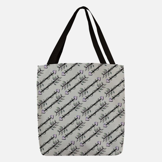 Arrows Grey Polyester Tote Bag
