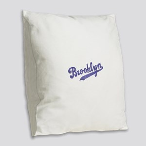 Throwback Brooklyn Burlap Throw Pillow
