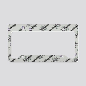 Arrows Grey License Plate Holder
