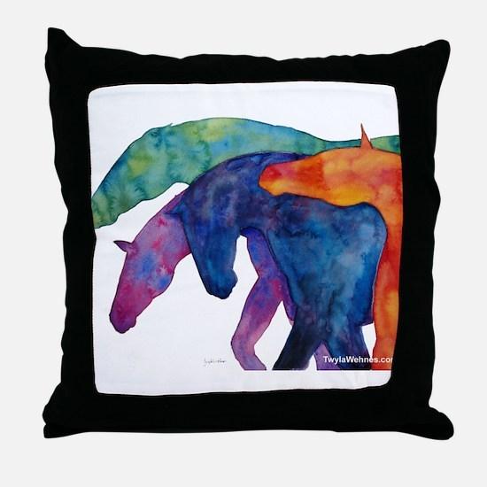 Cute Horse Throw Pillow