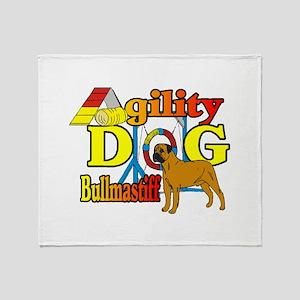 Bullmastiff Agility Throw Blanket