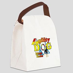 Doberman Agility Canvas Lunch Bag
