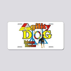 Doberman Agility Aluminum License Plate