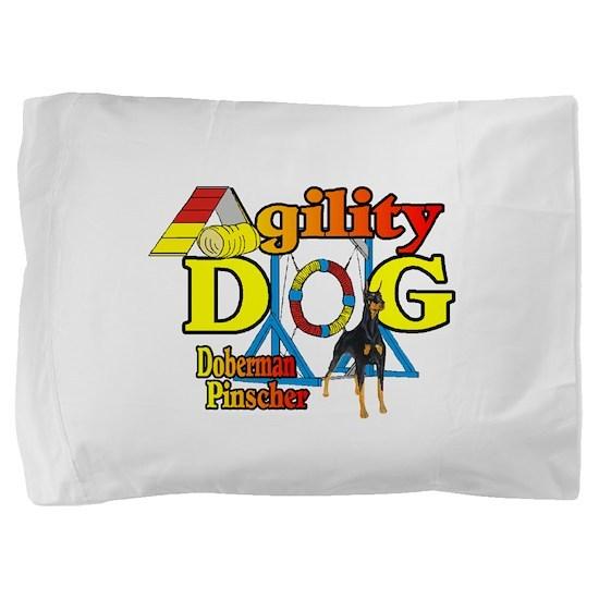 Doberman Agility Pillow Sham